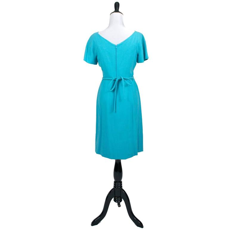 Pauline Trigere Blue Vintage Dress John Doyle Bishop Seattle 1960s 3