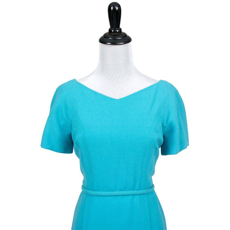Pauline Trigere Blue Vintage Dress John Doyle Bishop Seattle 1960s 4