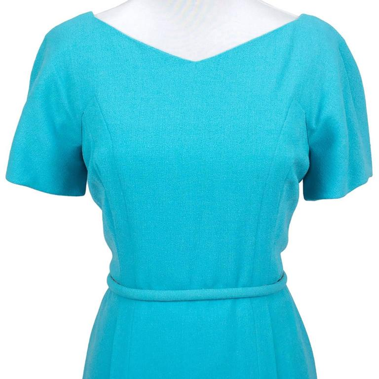 Pauline Trigere Blue Vintage Dress John Doyle Bishop Seattle 1960s 5