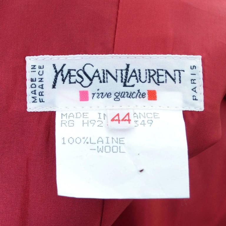 Women's YSL Vintage Yves Saint Laurent Raspberry Red Wool Blazer Jacket For Sale