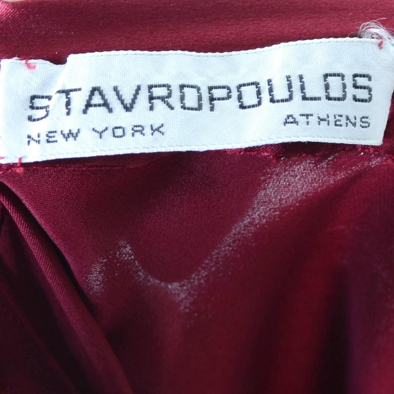 George Stavropoulos Evening Outfit Pants Top Luxurious Burgundy Silk Draping 7