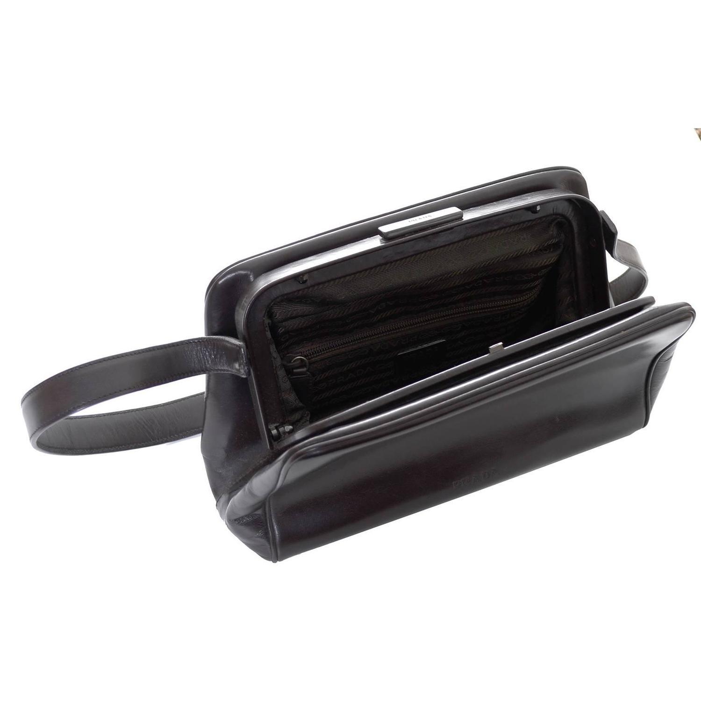 prada leather handbag shoulder bag