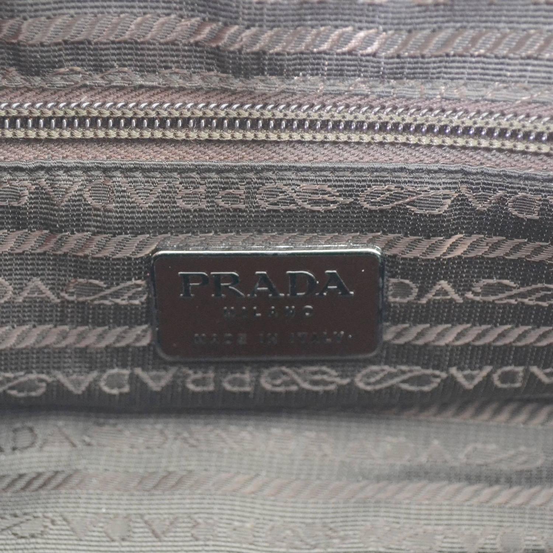exact replica handbags - Vintage Prada Handbag Chocolate Brown Leather Shoulder Bag For ...