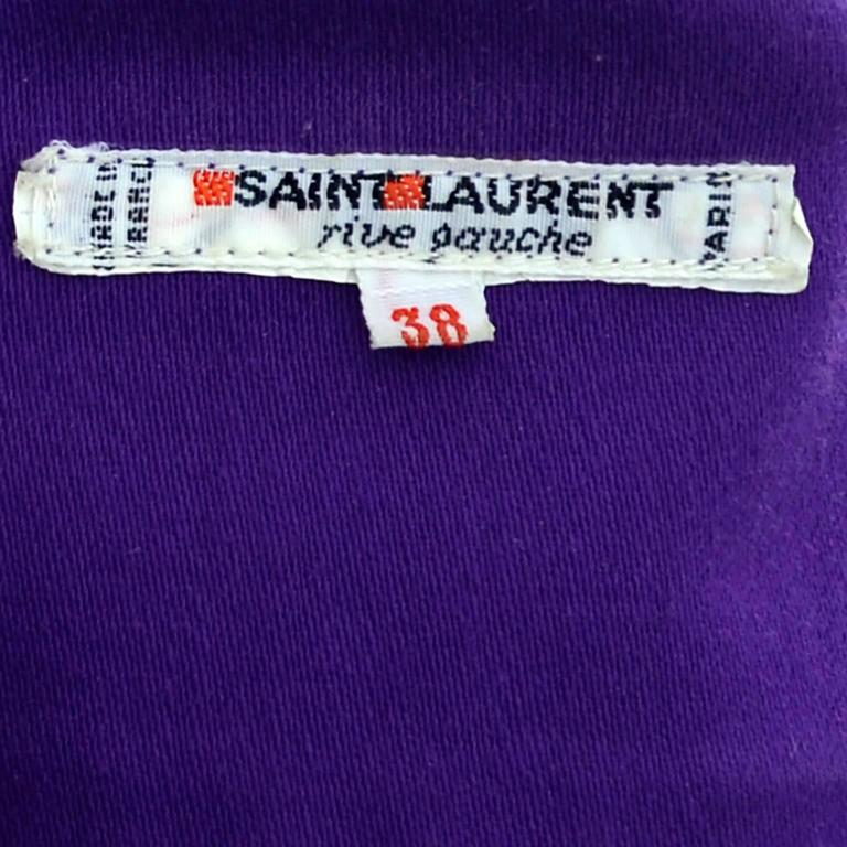Vintage Yves Saint Laurent 2 pc Pants Jacket Outfit YSL size 38 Knickerbockers 6