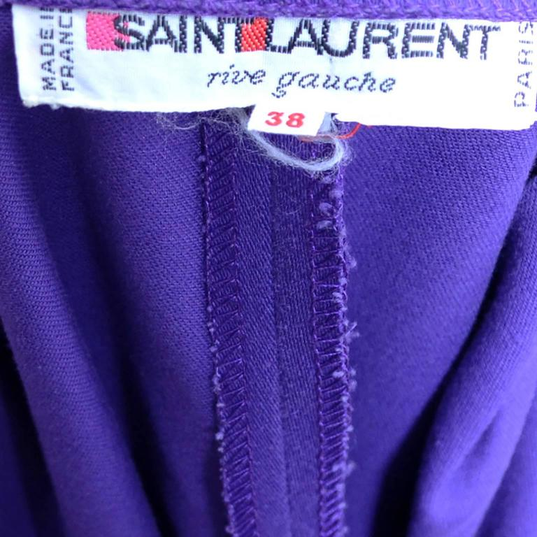 Vintage Yves Saint Laurent 2 pc Pants Jacket Outfit YSL size 38 Knickerbockers 7