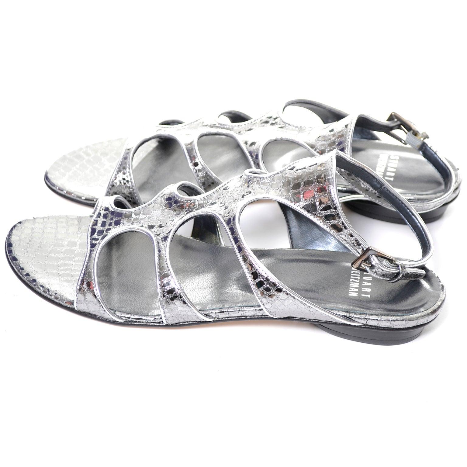 authentic Stuart Weitzman Gladio Metallic Sandals cheap sale low shipping fee outlet 100% guaranteed nrf9Btgufc