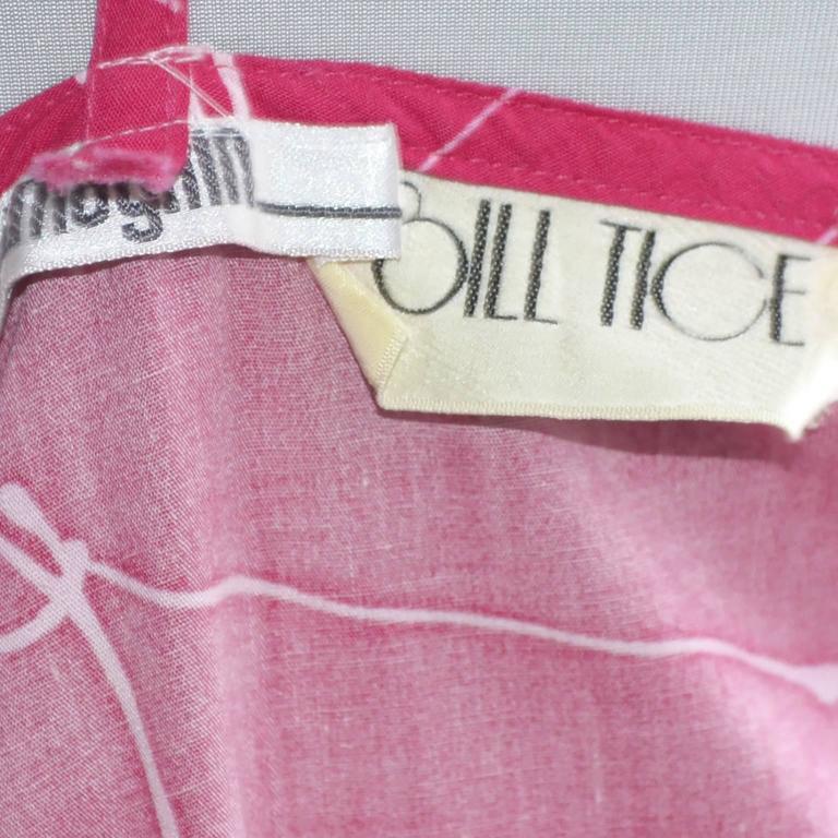 1970s Bill Tice Dress I Magnin Vintage Dresses Pink Cotton Maxi Novelty Print 3
