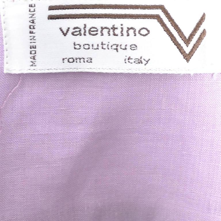 Vintage Valentino 2 Piece Lavender Purple Linen Dress and Skirt Made in France  For Sale 1