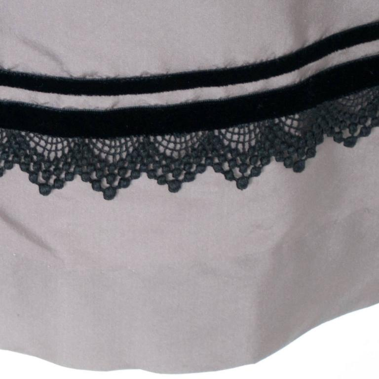 Women's Rare Style Harvey Berin Karen Stark Vintage Dress 1950s Lace Trim 4 For Sale