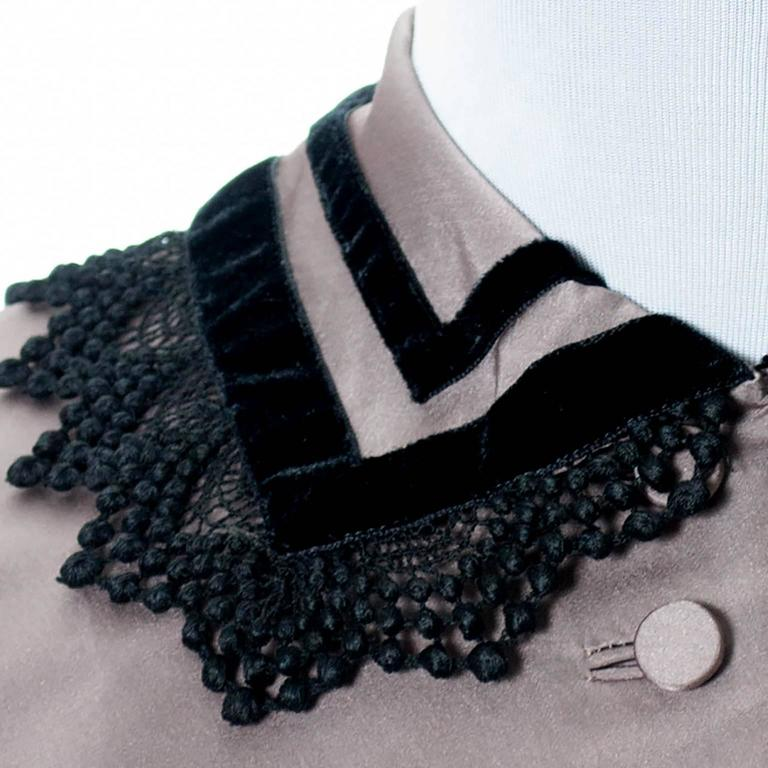 Rare Style Harvey Berin Karen Stark Vintage Dress 1950s Lace Trim 4 For Sale 1