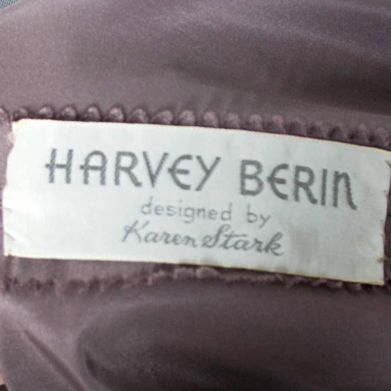 Rare Style Harvey Berin Karen Stark Vintage Dress 1950s Lace Trim 4 For Sale 2