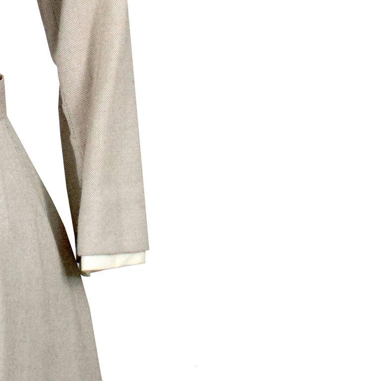 Harvey Berin Karen Stark Ecru Vintage Dress Documented in Harpers Bazaar 1950s  1