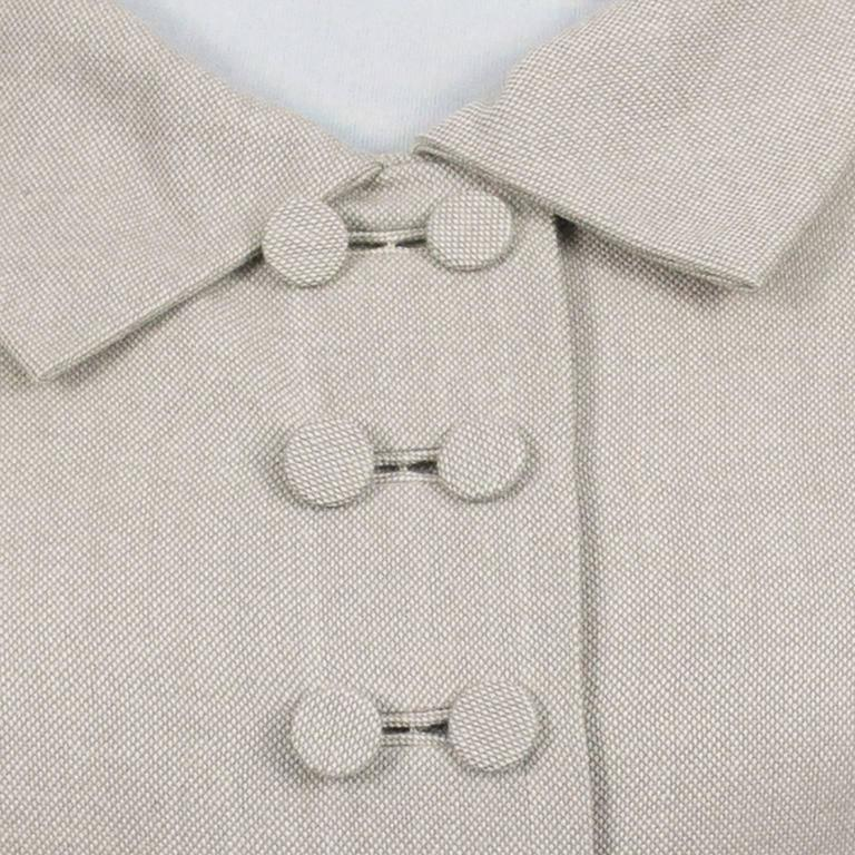 Harvey Berin Karen Stark Ecru Vintage Dress Documented in Harpers Bazaar 1950s  In Excellent Condition In Portland, OR