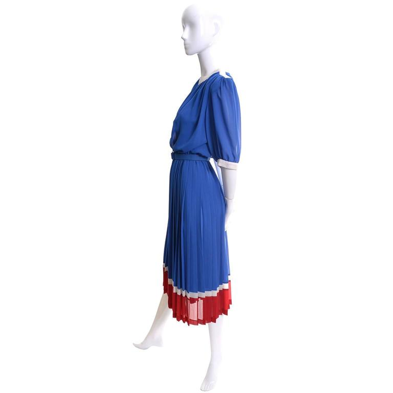 Pierre Cardin Vintage Red White and Blue 1970s Boutique Dress For ...