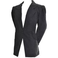 Emanuel Ungaro Vintage Blazer Jacket Solo Donna Rose Pattern 1980s 10