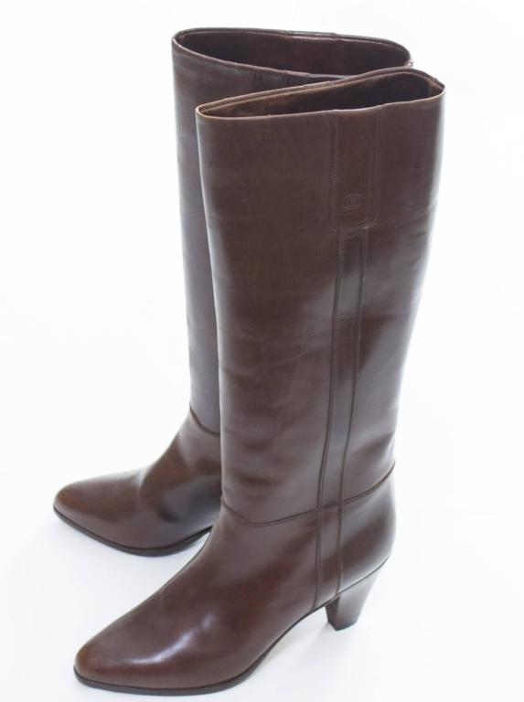 94e082a9824bd 1970s Gucci Vintage Boots Leather Italy Size 39