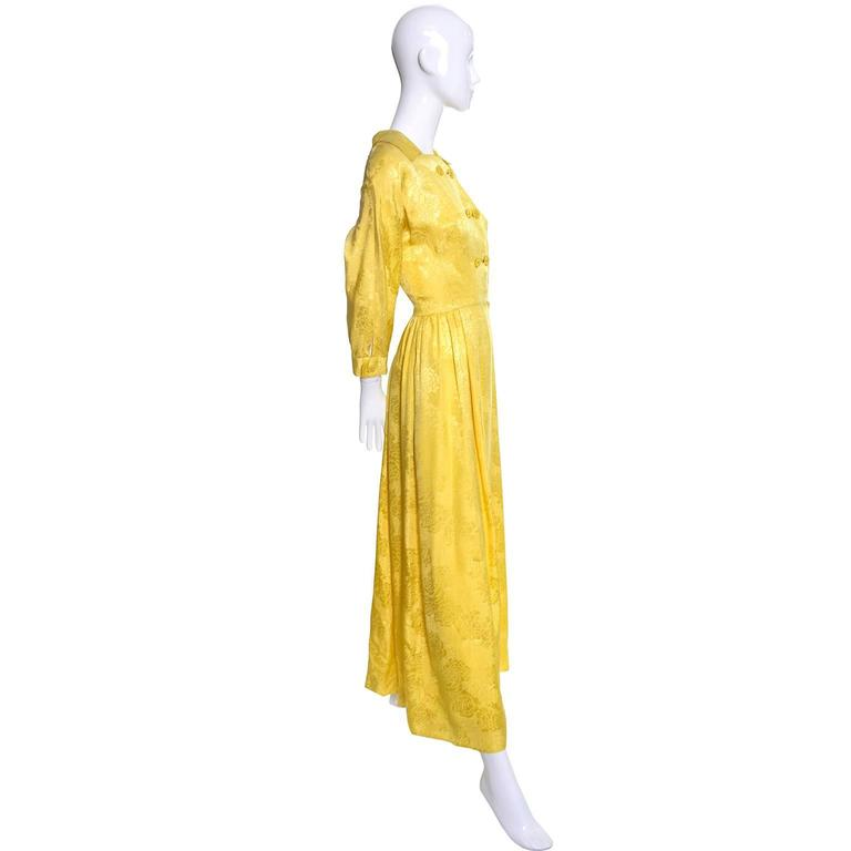 This is one of my favorite robes - a fine silk robe or hostess outfit made in the 1960's in Hong Kong by Dynasty.  Some of the most beautiful silk evening gowns and sleepwear from the 1960's were made by Dynasty.  This robe is made from a luxurious