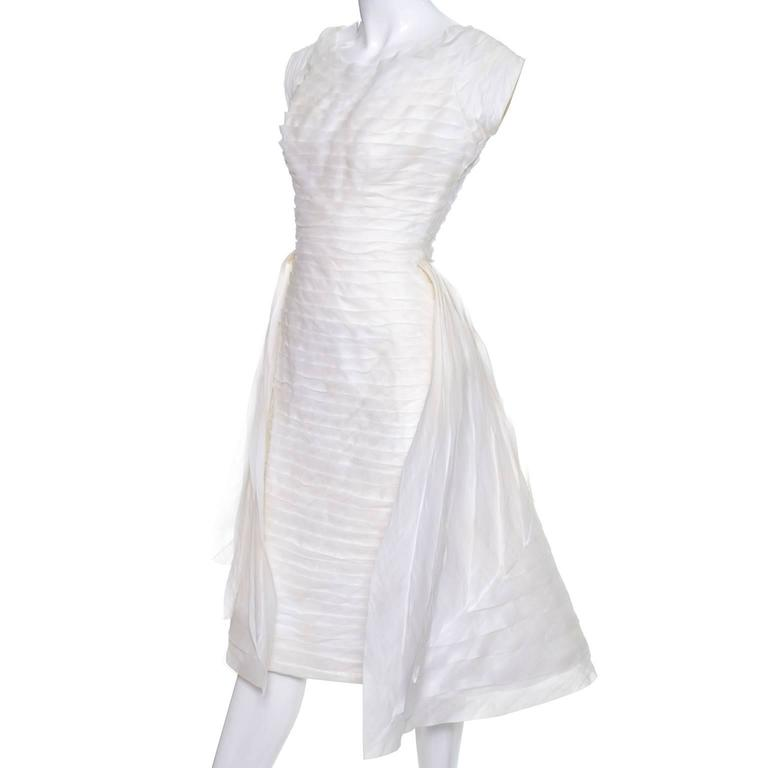 1950s William Cahill Beverly Hills Pleated Organza Vintage Wedding ...