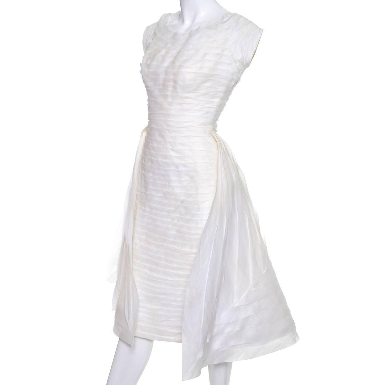 1950s william cahill beverly hills pleated organza vintage for Beverly hills wedding dresses