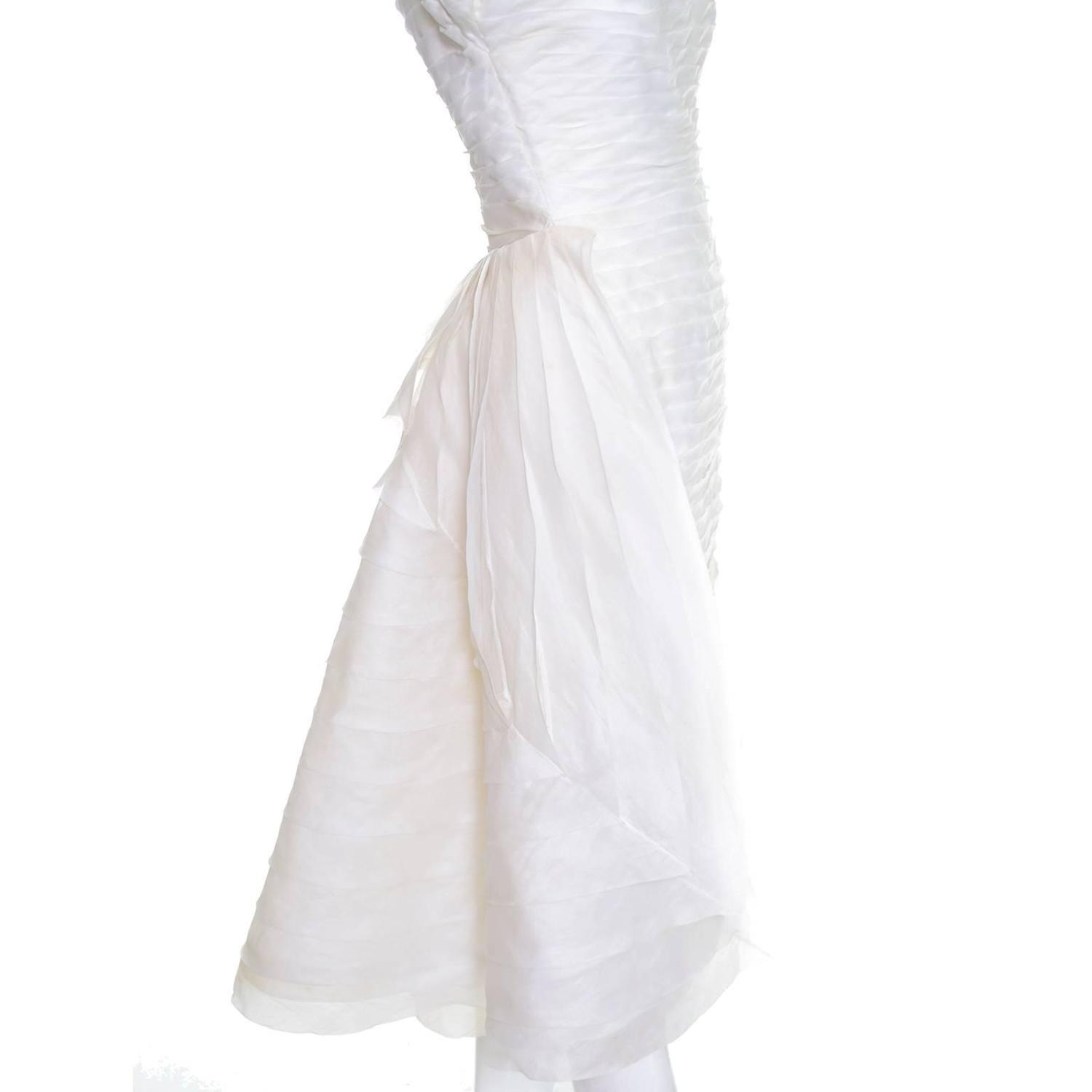 1950s william cahill beverly hills pleated organza vintage for 1950s style wedding dresses for sale