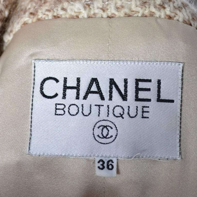 Documented F/W 1988 Vintage Chanel Boutique Skirt Suit Boucle Wool Fringe  For Sale 5