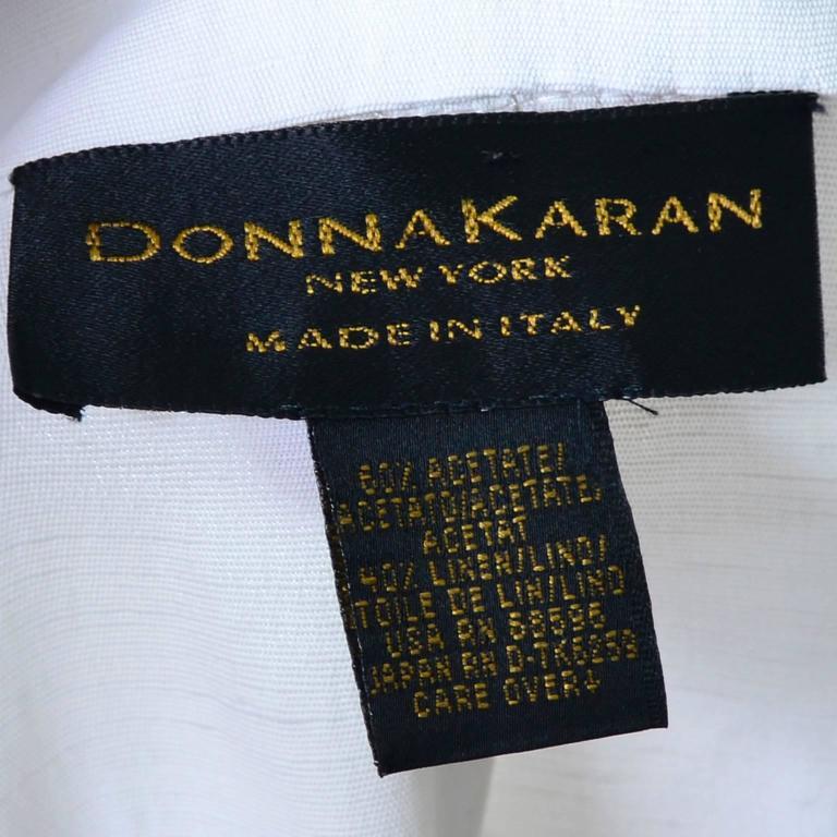 1990s Donna Karan Vintage Ivory Racer Back Dress and Coat Suit Ensemble For Sale 5