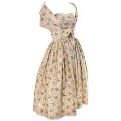 Carolyn Schnurer vintage dress 1950s Strapless Built in Shawl Wrap 4/6