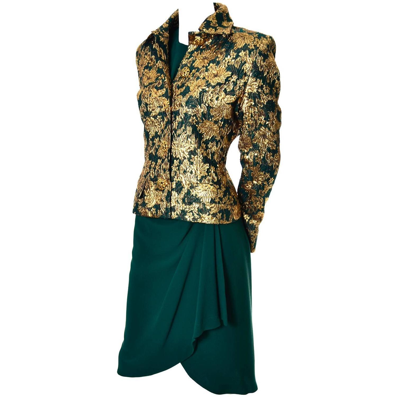 jean louis scherrer numbered boutique vintage silk dress. Black Bedroom Furniture Sets. Home Design Ideas