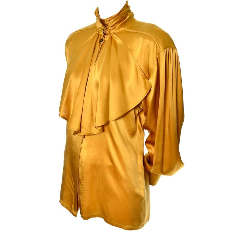 Escada vintage blouse scarf blouse top for What do we use silk for