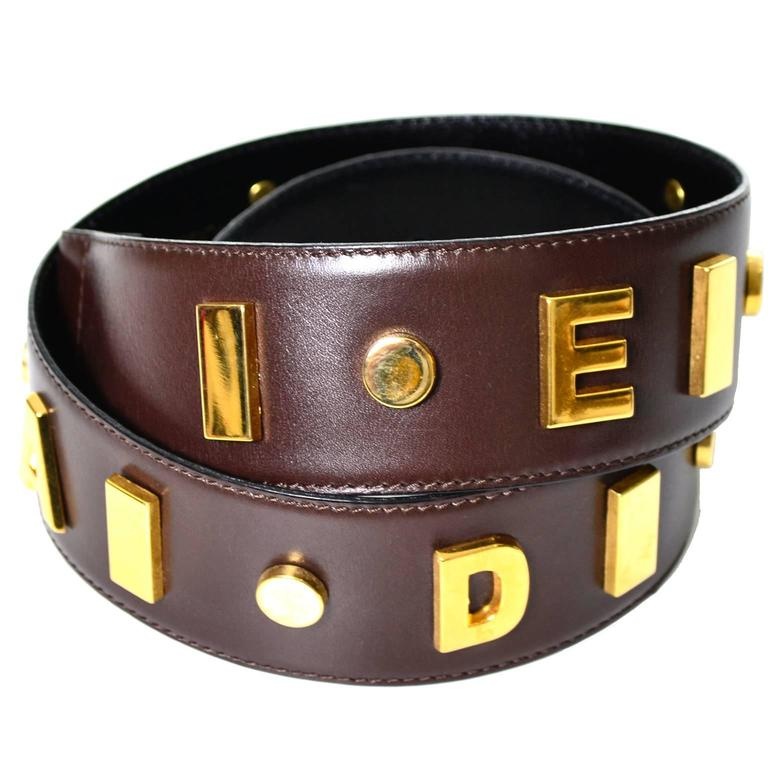 1980s Escada Vintage Signature Statement Belt Leather West Germany
