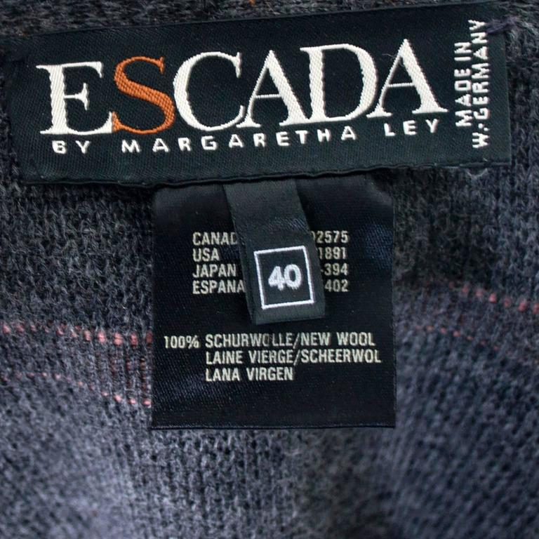 Documented 1980s Escada Vintage Sweater w/ Colorful Pom Poms Margaretha Ley For Sale 4