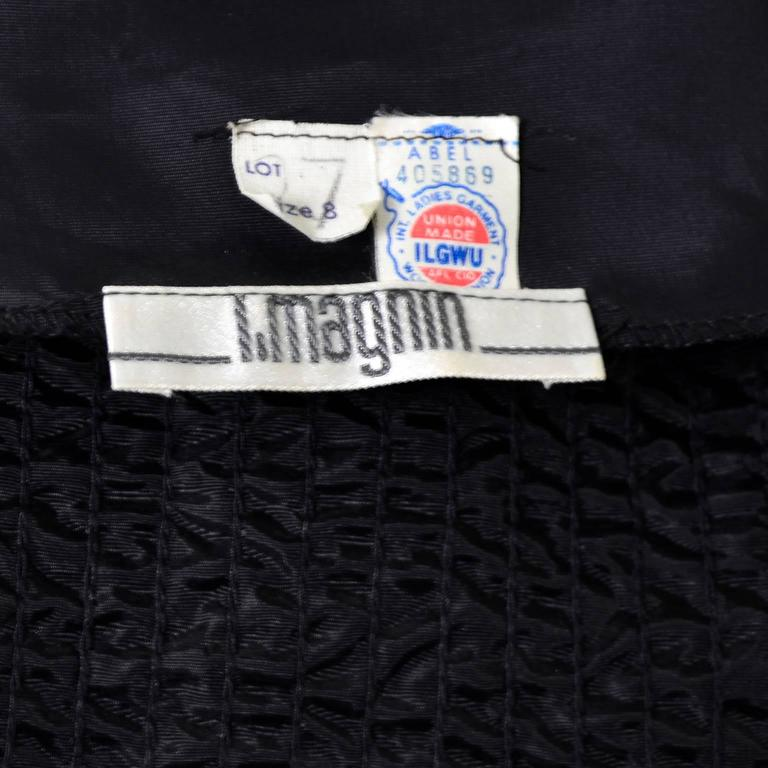 Women's I Magnin Vintage Evening Jacket Cardigan in Metallic Silver w/ Sequins S/M For Sale