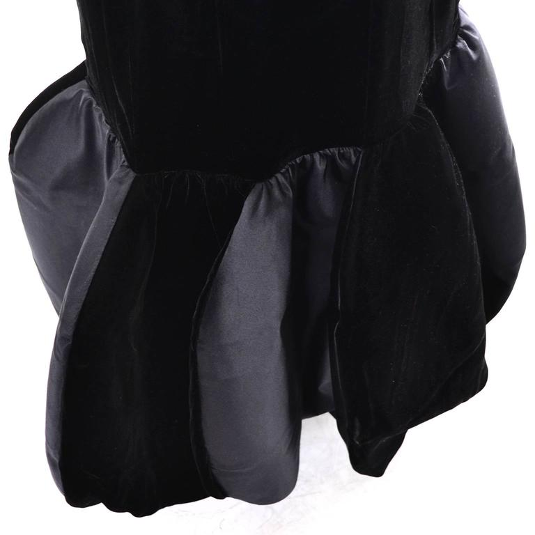 Women's Avant Garde Givenchy Vintage Dress Velvet Statement Evening Gown 12 For Sale