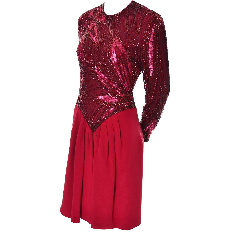 1980s bob mackie boutique vintage dress silk beaded