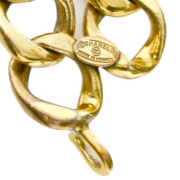 Chanel Rare Vintage Belt Gold Balls Original Box Made in France Adjustable Fit 2