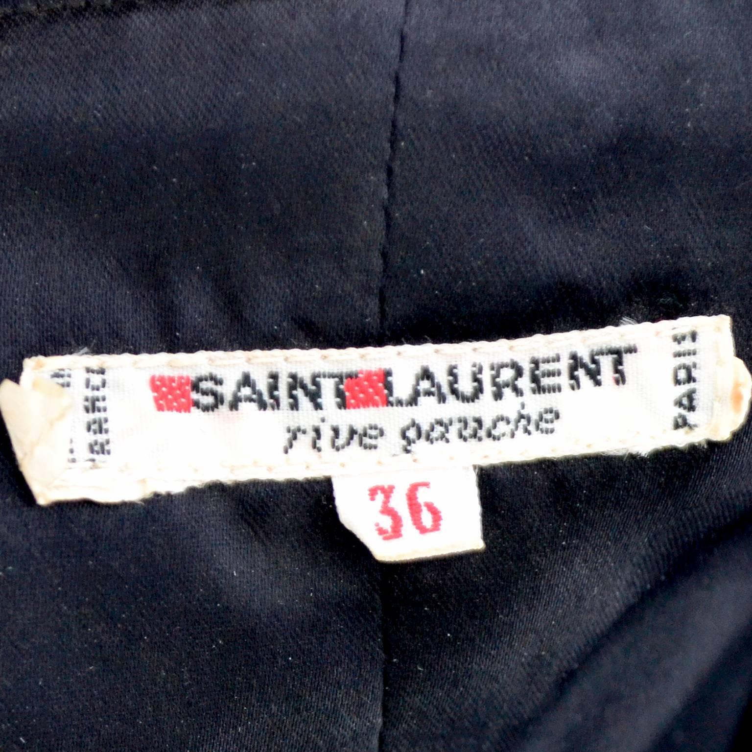 d875d65c40 Yves Saint Laurent Vintage YSL Dress 2 pc Black Evening Gown 1970s Size 36  US 2 For Sale at 1stdibs