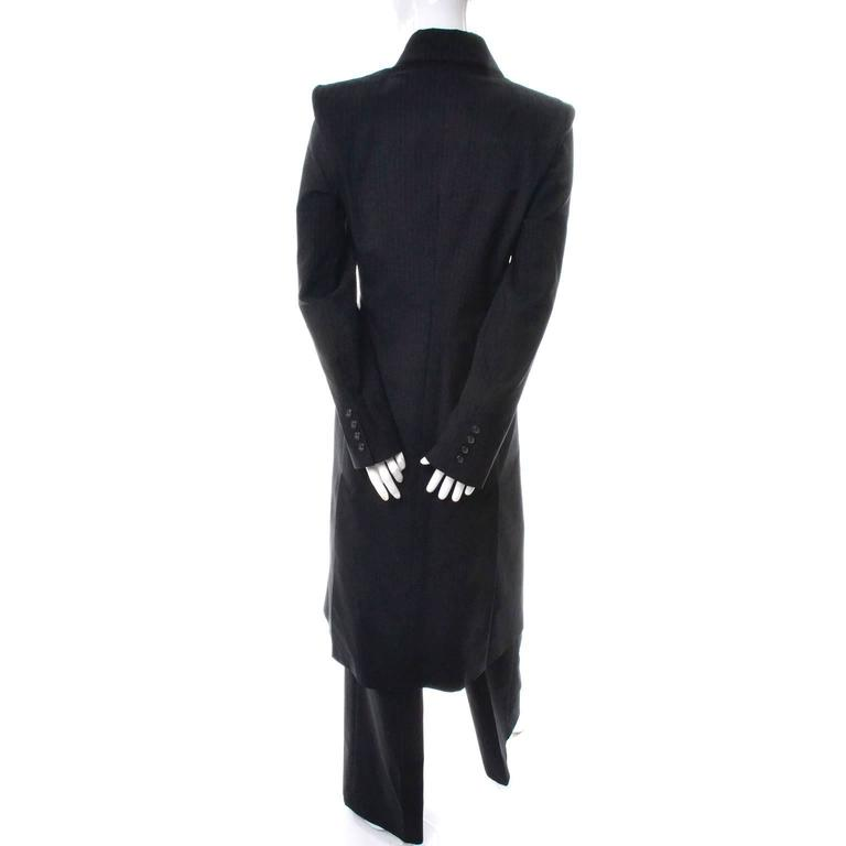 Alexander McQueen Joan of Arc Vintage Coat Pant Suit with Red Lining, 1998  For Sale 2