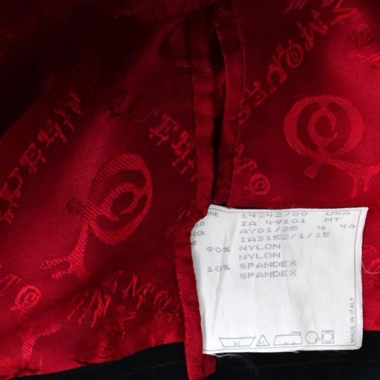 Rare 1998 Joan Alexander McQueen Vintage Coat Pant Suit Red Lining Documented 10 9