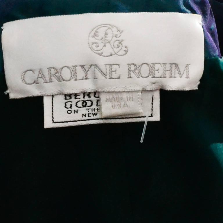 Carolyne Roehm Vintage Dress Iridescent Bergdorf Goodman Taffeta Ballgown 10 For Sale 5