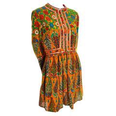 Sadie for I Magnin Moroccan Inspired 1960s Mini Baby Doll Vintage Dress 10