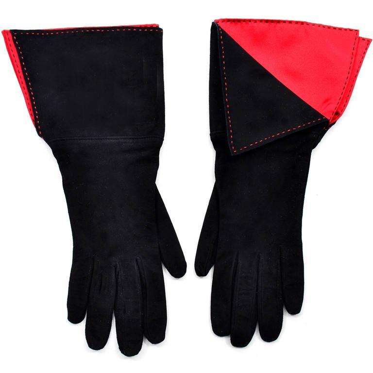 Paloma Picasso 3Pc Vintage Accessories Gauntlet Gloves Clutch Handbag Wrap Scarf 3