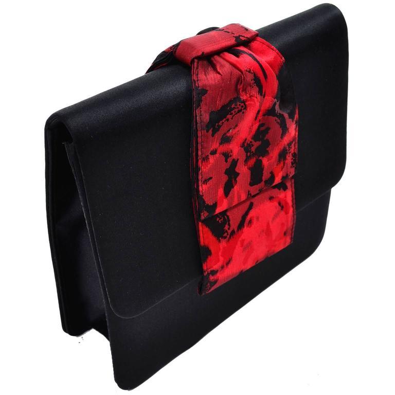 Paloma Picasso 3Pc Vintage Accessories Gauntlet Gloves Clutch Handbag Wrap Scarf 8