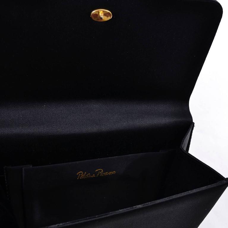 Paloma Picasso 3Pc Vintage Accessories Gauntlet Gloves Clutch Handbag Wrap Scarf 9