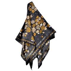1970s Vintage Emanuel Ungaro Vintage Silk Scarf