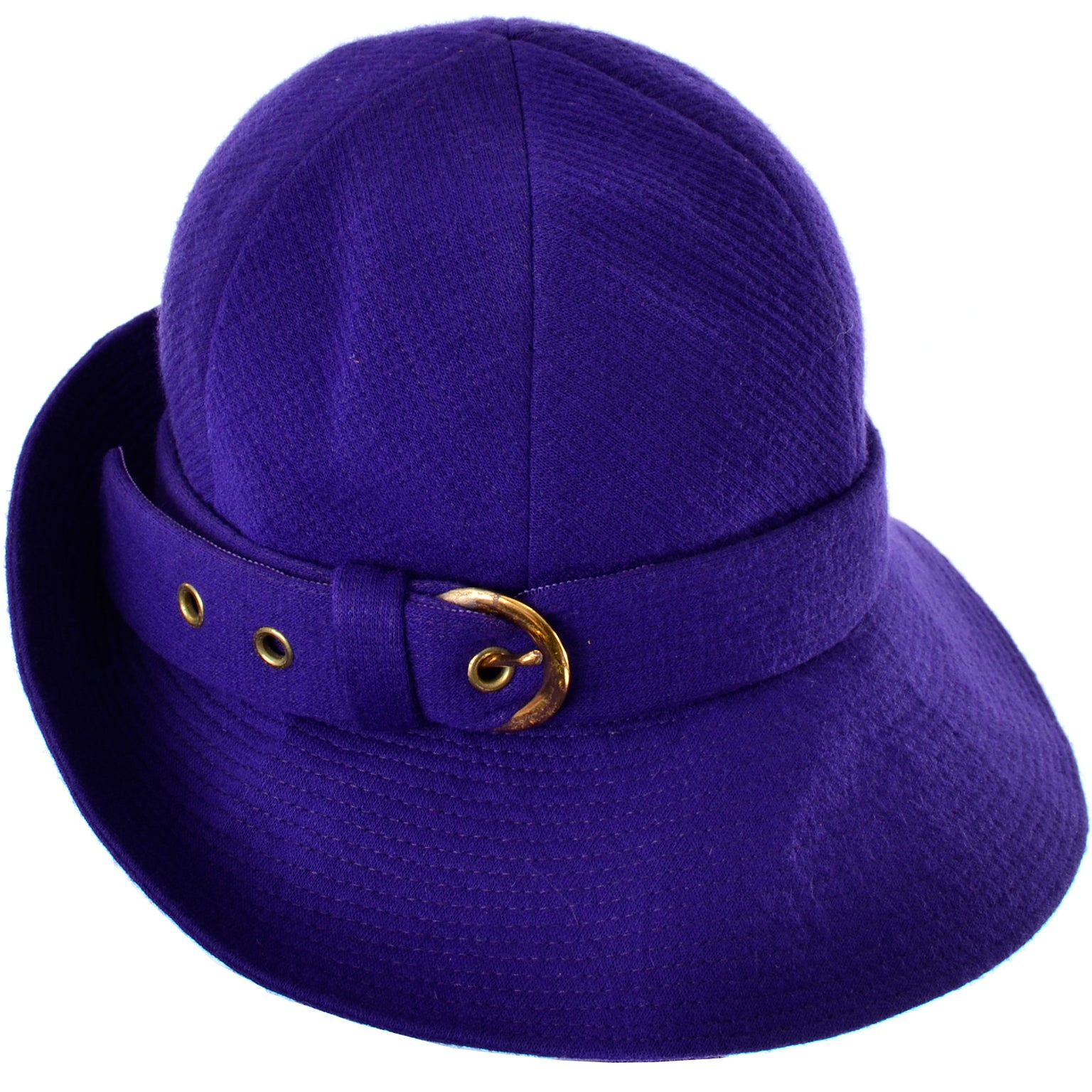 3883dbad904a5 1960s YSL Vintage Purple Wool Hat Designed by Yves Saint Laurent 22