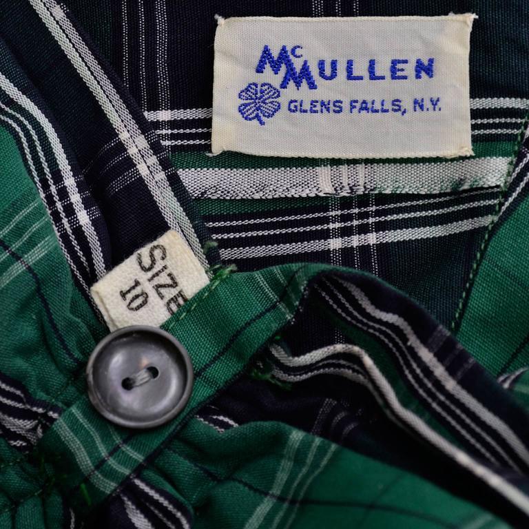 Dorothy Cox 1940s McMullen Rare Playsuit Plaid Shorts Shirt Halter Bandeau Top  5