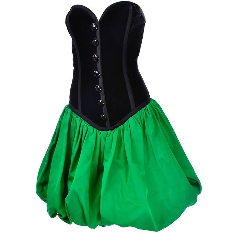 Vintage Green Cocktail Dress