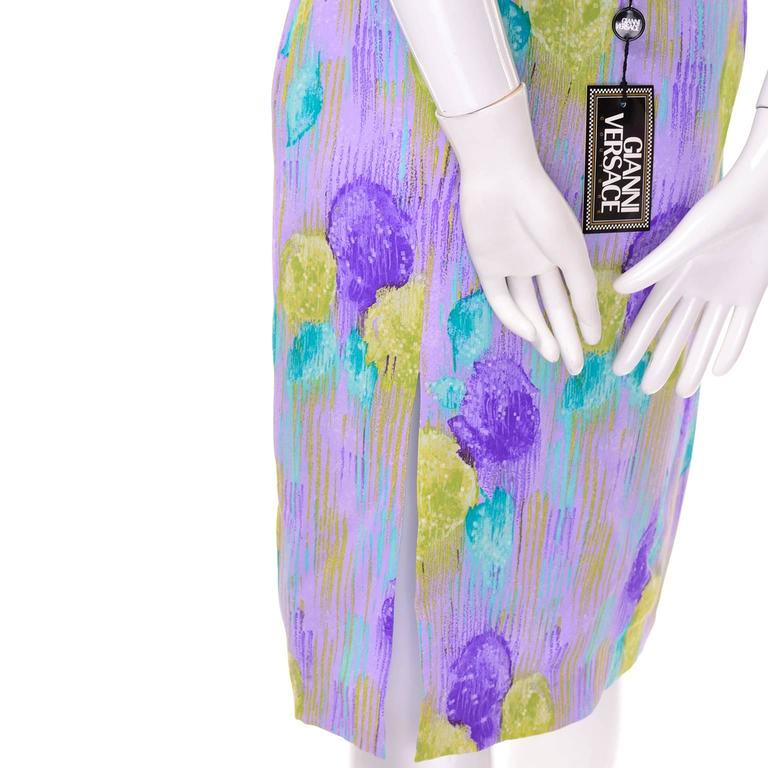 New Vintage 1990s Gianni Versace Silk 2 pc Dress Cropped Top Skirt With Tags 7