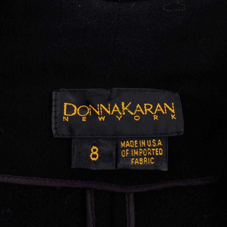 Early Donna Karan Black Label Beaded Black Evening Jacket  For Sale 3