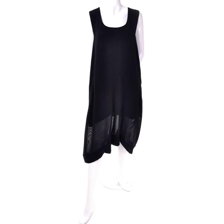 1990s Issey Miyake Lightweight 100% Wool Drop Crotch Jumpsuit Romper Dress 9